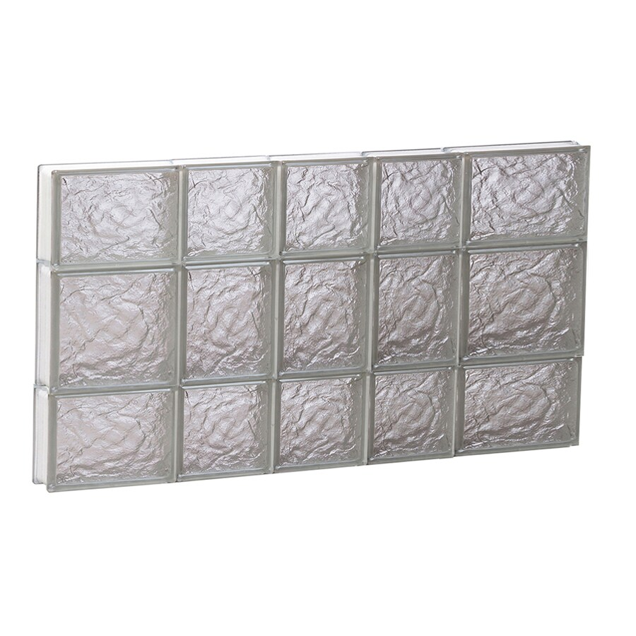 REDI2SET Ice Glass Pattern Frameless Replacement Block Window (Rough Opening: 34-in x 20-in; Actual: 32.75-in x 19.25-in)