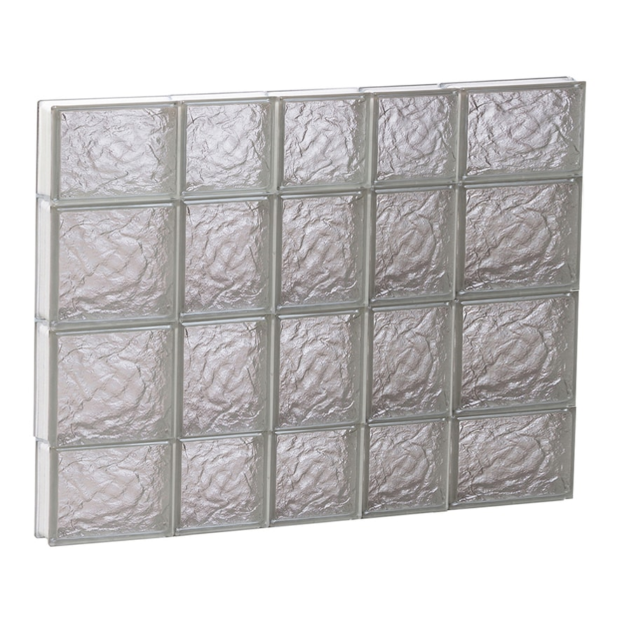 REDI2SET Ice Glass Pattern Frameless Replacement Block Window (Rough Opening: 34-in x 28-in; Actual: 32.75-in x 27-in)