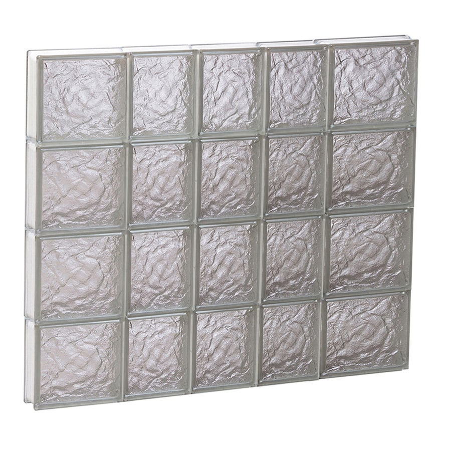 REDI2SET Ice Glass Pattern Frameless Replacement Block Window (Rough Opening: 34-in x 32-in; Actual: 32.75-in x 31-in)