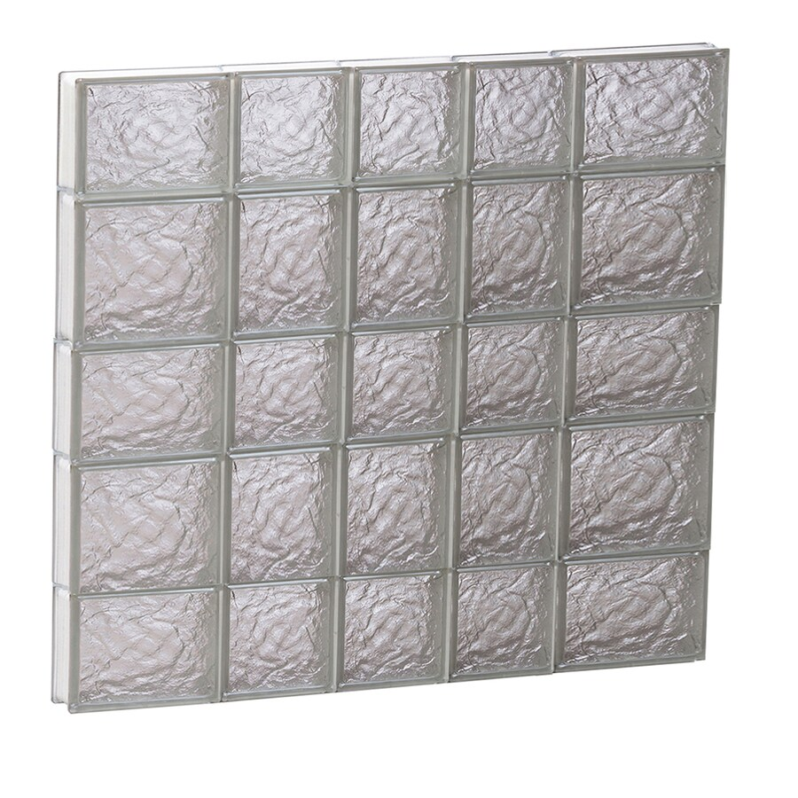 REDI2SET Ice Glass Pattern Frameless Replacement Block Window (Rough Opening: 34-in x 34-in; Actual: 32.75-in x 32.75-in)