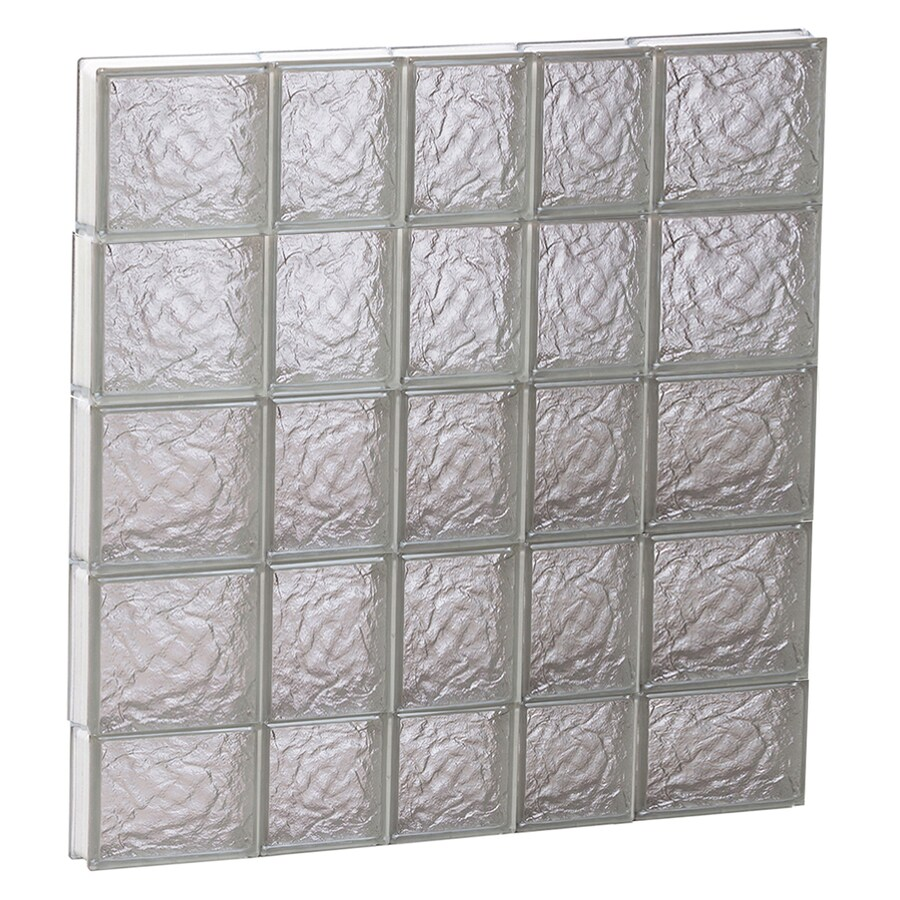 REDI2SET Ice Glass Pattern Frameless Replacement Block Window (Rough Opening: 34-in x 38-in; Actual: 32.75-in x 36.75-in)