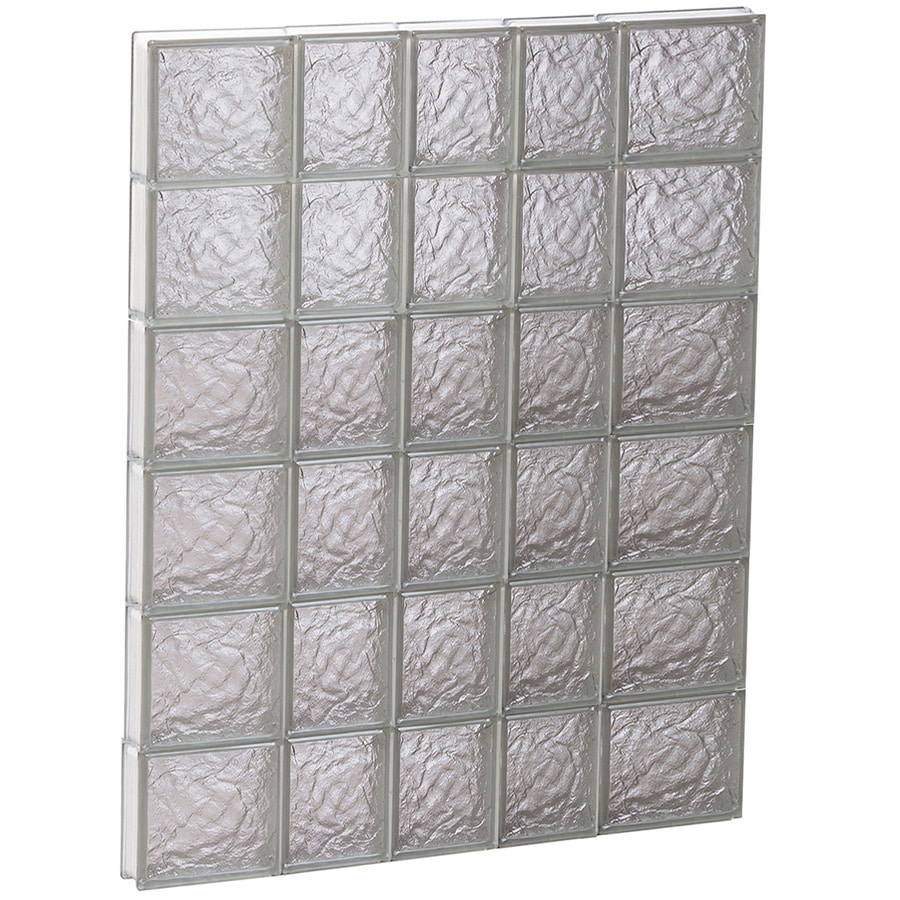 REDI2SET Ice Glass Pattern Frameless Replacement Block Window (Rough Opening: 34-in x 48-in; Actual: 32.75-in x 46.5-in)