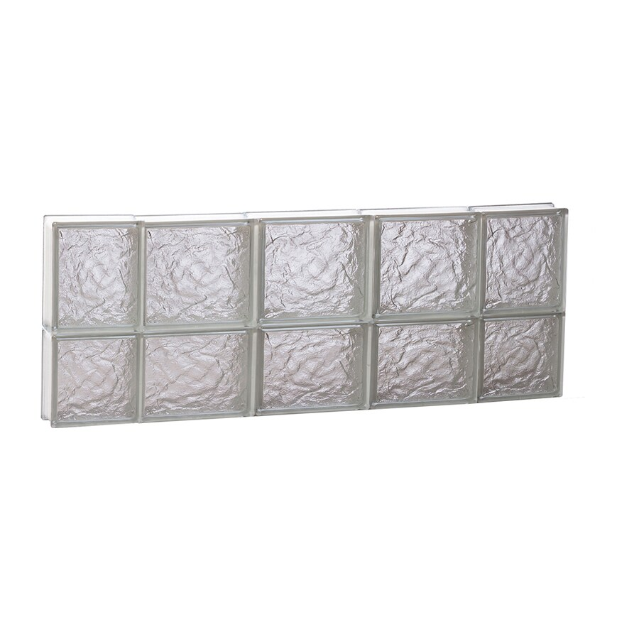 REDI2SET Ice Glass Pattern Frameless Replacement Block Window (Rough Opening: 36-in x 14-in; Actual: 34.75-in x 13.5-in)