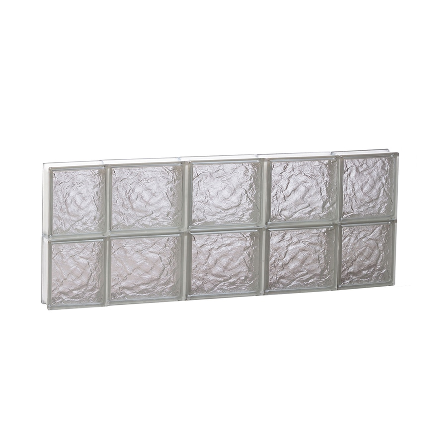 REDI2SET Ice Glass Pattern Frameless Replacement Block Window (Rough Opening: 36-in x 16-in; Actual: 34.75-in x 15.5-in)