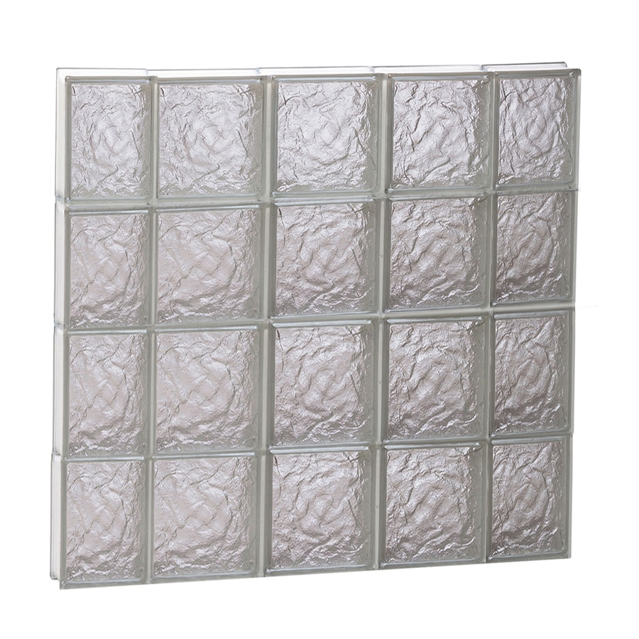 REDI2SET Ice Glass Pattern Frameless Replacement Block Window (Rough Opening: 36-in x 32-in; Actual: 34.75-in x 31-in)