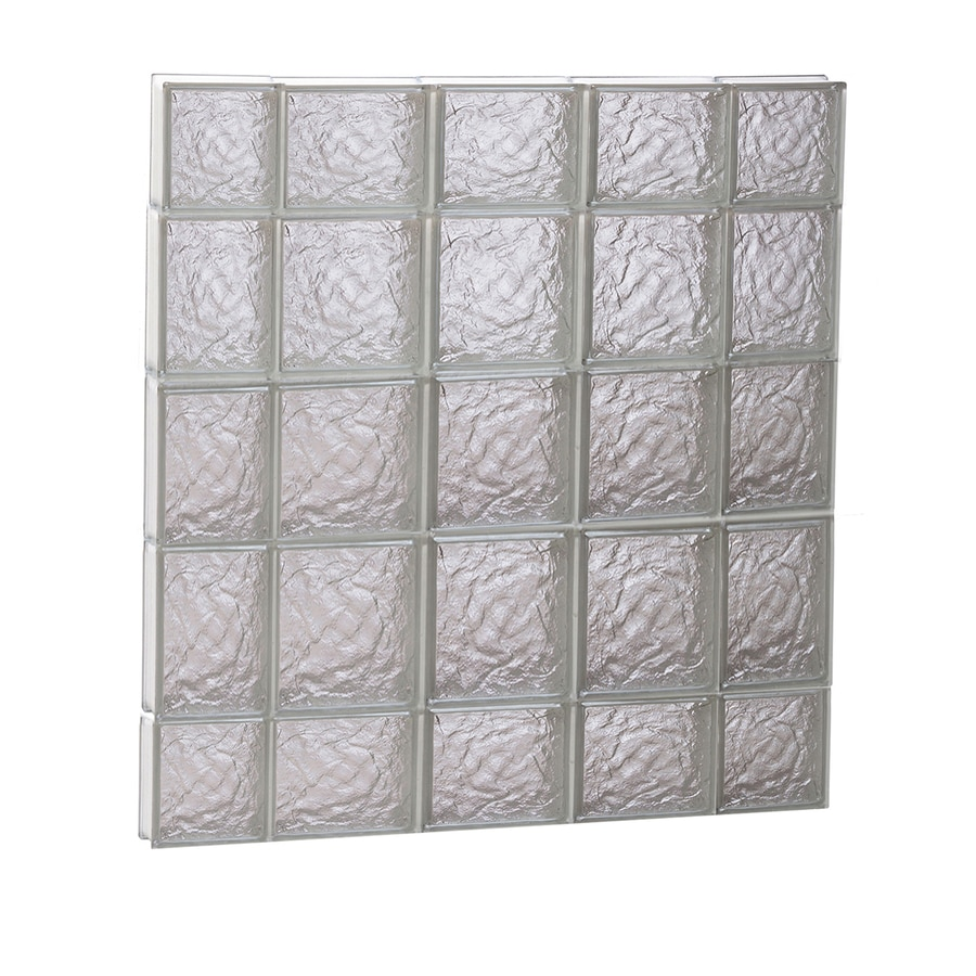 REDI2SET Ice Glass Pattern Frameless Replacement Block Window (Rough Opening: 36-in x 36-in; Actual: 34.75-in x 34.75-in)