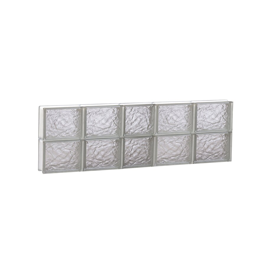 REDI2SET Ice Glass Pattern Frameless Replacement Block Window (Rough Opening: 38-in x 12-in; Actual: 36.75-in x 11.5-in)