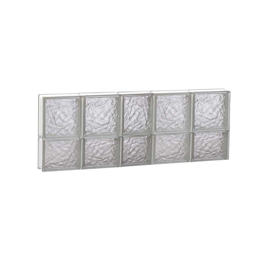 REDI2SET Ice Glass Pattern Frameless Replacement Block Window (Rough Opening: 38-in x 14-in; Actual: 36.75-in x 13.5-in)