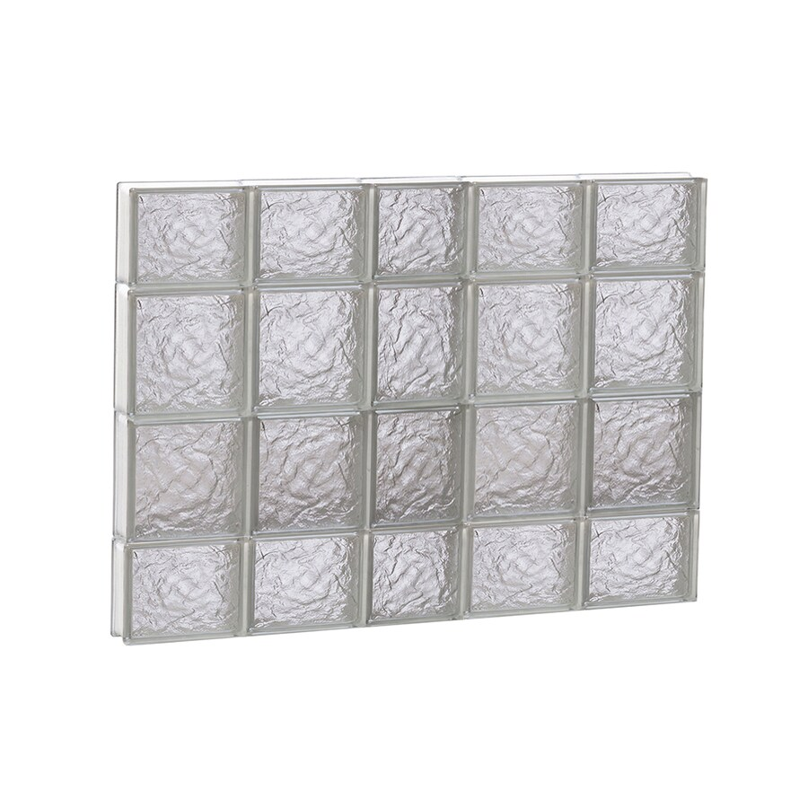 REDI2SET Ice Glass Pattern Frameless Replacement Block Window (Rough Opening: 38-in x 28-in; Actual: 36.75-in x 27-in)