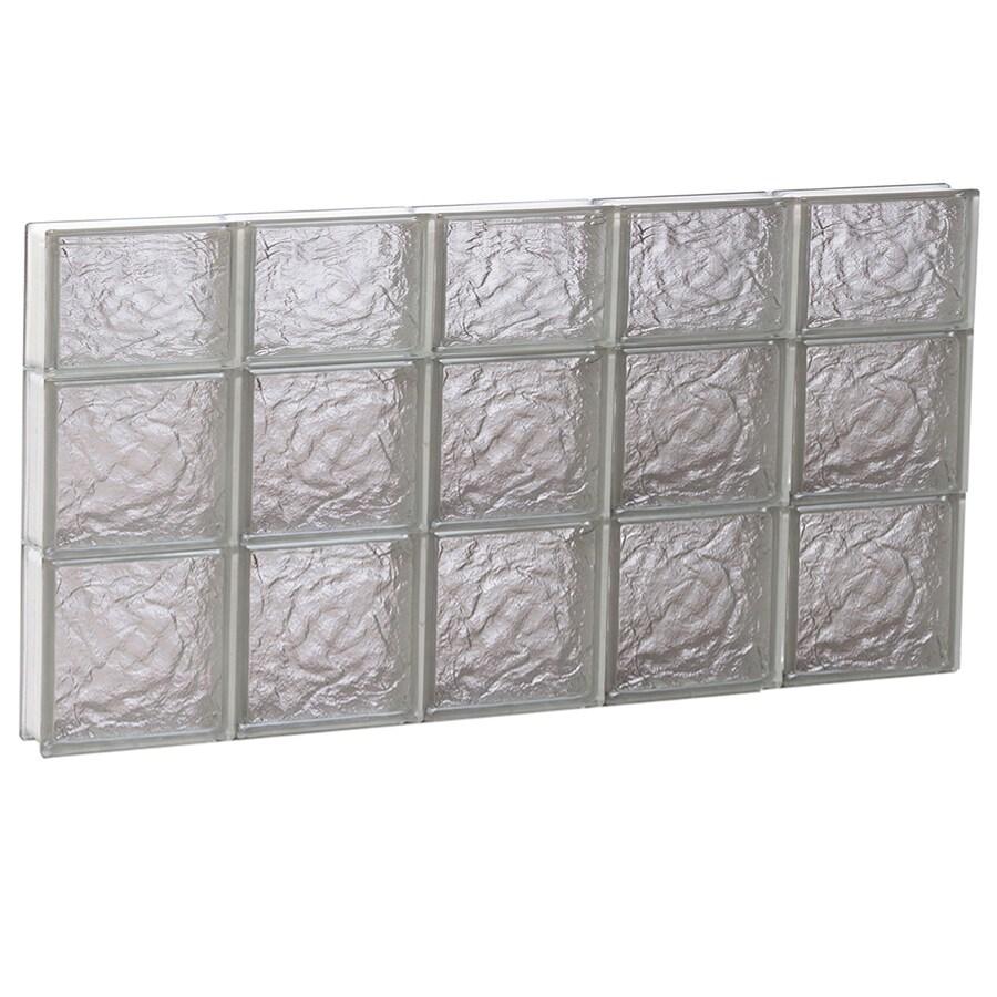 REDI2SET Ice Glass Pattern Frameless Replacement Block Window (Rough Opening: 40-in x 22-in; Actual: 38.75-in x 21.25-in)