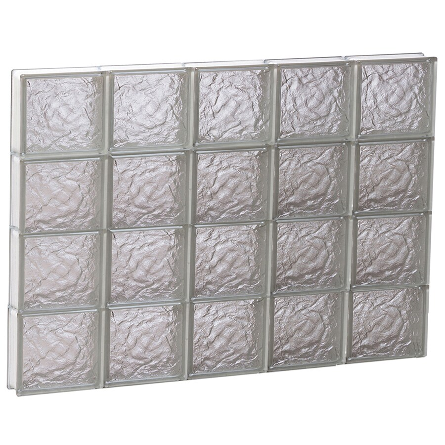 REDI2SET Ice Glass Pattern Frameless Replacement Block Window (Rough Opening: 40-in x 32-in; Actual: 38.75-in x 31-in)