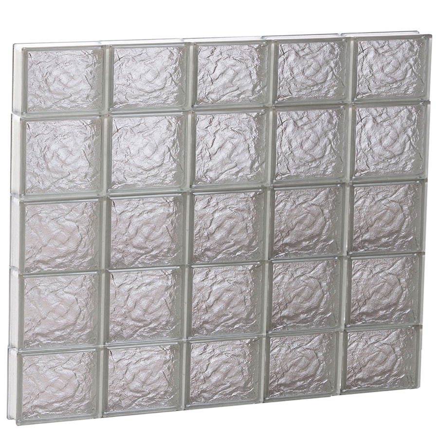 REDI2SET Ice Glass Pattern Frameless Replacement Block Window (Rough Opening: 40-in x 36-in; Actual: 38.75-in x 34.75-in)