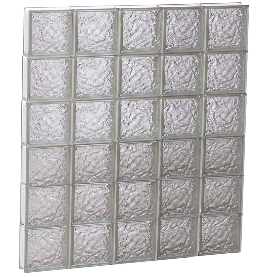 REDI2SET Ice Glass Pattern Frameless Replacement Block Window (Rough Opening: 40-in x 48-in; Actual: 38.75-in x 46.5-in)