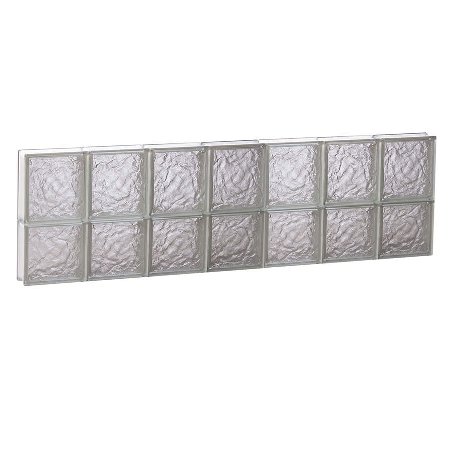 REDI2SET Ice Glass Pattern Frameless Replacement Block Window (Rough Opening: 42-in x 14-in; Actual: 40.25-in x 13.5-in)