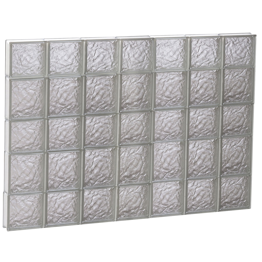 REDI2SET Ice Glass Pattern Frameless Replacement Block Window (Rough Opening: 42-in x 34-in; Actual: 40.25-in x 32.75-in)