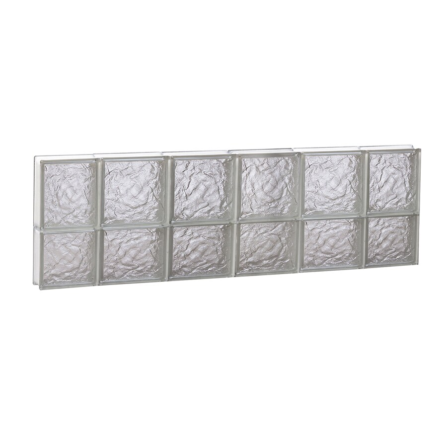 REDI2SET Ice Glass Pattern Frameless Replacement Block Window (Rough Opening: 44-in x 14-in; Actual: 42.5-in x 13.5-in)