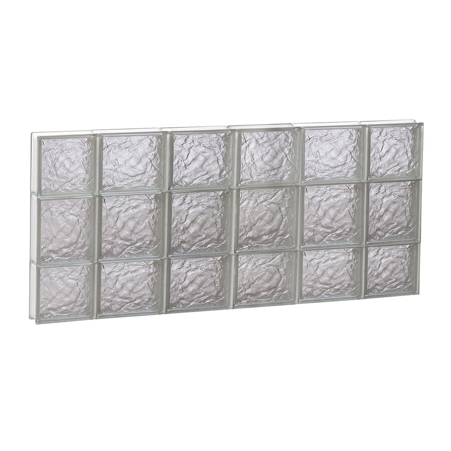 REDI2SET Ice Glass Pattern Frameless Replacement Block Window (Rough Opening: 44-in x 20-in; Actual: 42.5-in x 19.25-in)