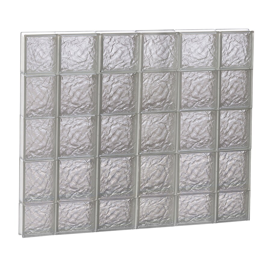 REDI2SET Ice Glass Pattern Frameless Replacement Block Window (Rough Opening: 44-in x 38-in; Actual: 42.5-in x 36.75-in)