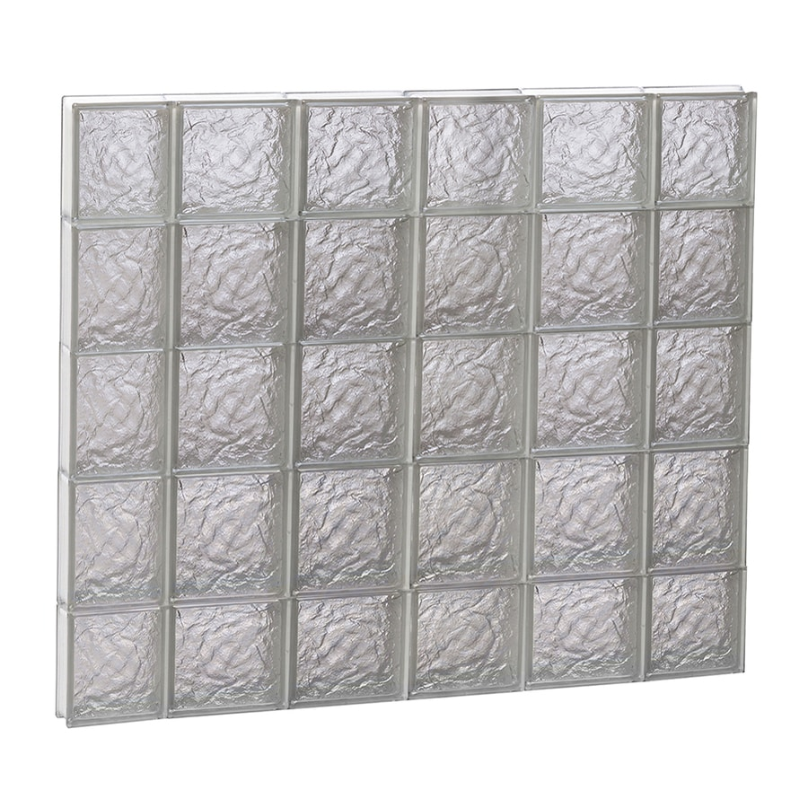 REDI2SET Ice Glass Pattern Frameless Replacement Block Window (Rough Opening: 44-in x 40-in; Actual: 42.5-in x 38.75-in)