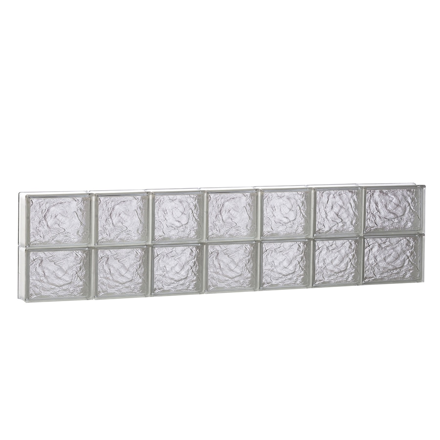REDI2SET Ice Glass Pattern Frameless Replacement Block Window (Rough Opening: 46-in x 12-in; Actual: 44.25-in x 11.5-in)