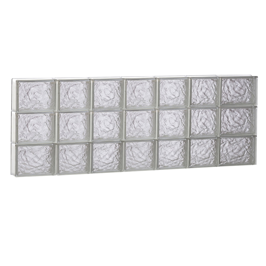 REDI2SET Ice Glass Pattern Frameless Replacement Block Window (Rough Opening: 46-in x 18-in; Actual: 44.25-in x 17.25-in)