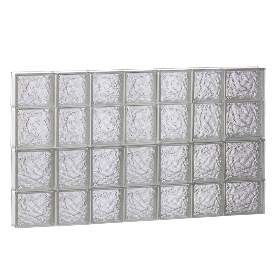 REDI2SET Ice Glass Pattern Frameless Replacement Block Window (Rough Opening: 46-in x 28-in; Actual: 44.25-in x 27-in)