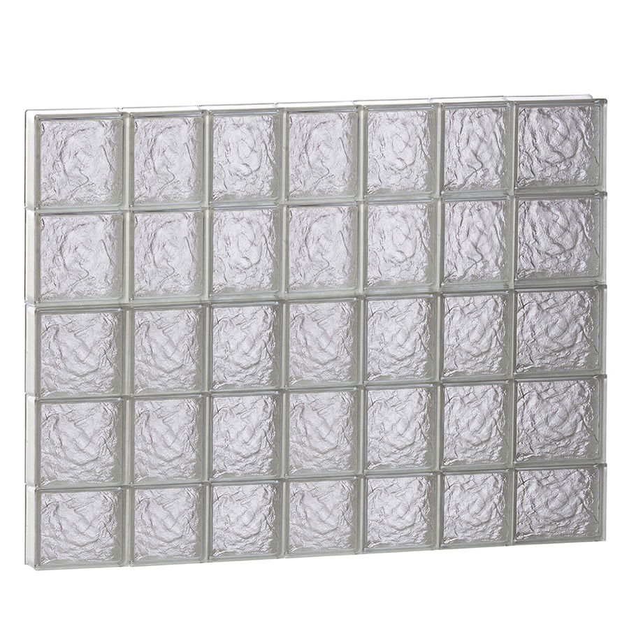 REDI2SET Ice Glass Pattern Frameless Replacement Block Window (Rough Opening: 46-in x 38-in; Actual: 44.25-in x 36.75-in)