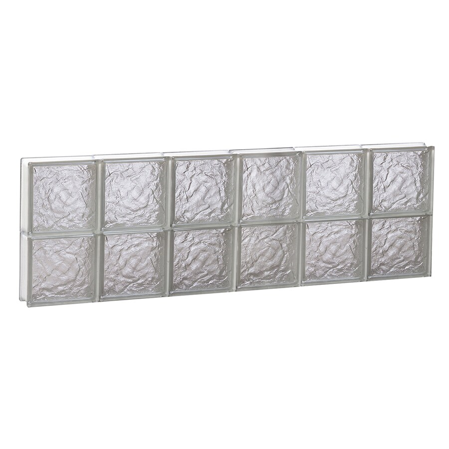 REDI2SET Ice Glass Pattern Frameless Replacement Block Window (Rough Opening: 48-in x 16-in; Actual: 46.5-in x 15.5-in)