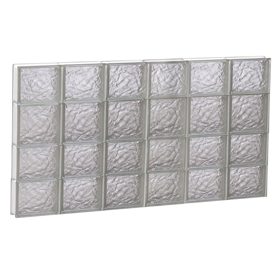 REDI2SET Ice Glass Pattern Frameless Replacement Block Window (Rough Opening: 48-in x 26-in; Actual: 46.5-in x 25-in)