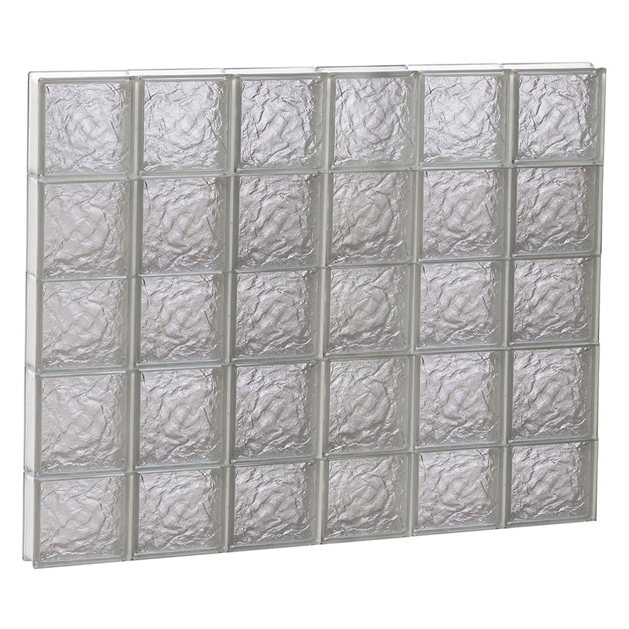 REDI2SET Ice Glass Pattern Frameless Replacement Block Window (Rough Opening: 48-in x 38-in; Actual: 46.5-in x 36.75-in)