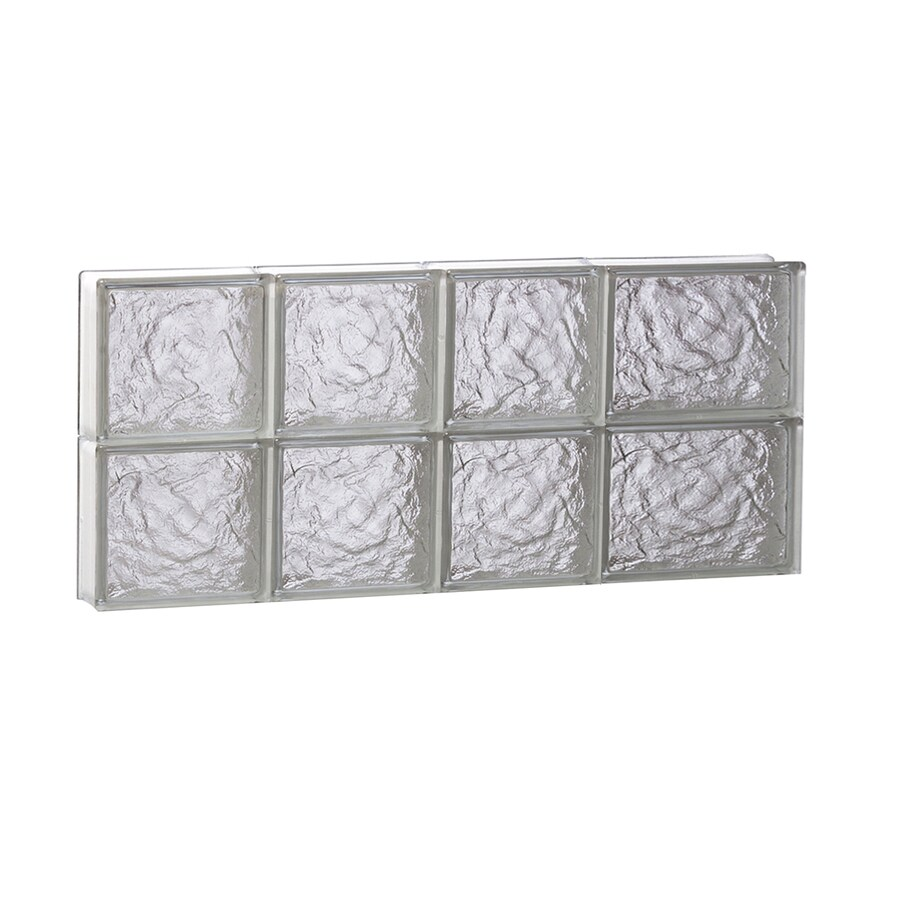 REDI2SET Ice Glass Pattern Frameless Replacement Block Window (Rough Opening: 26-in x 12-in; Actual: 25-in x 11.5-in)