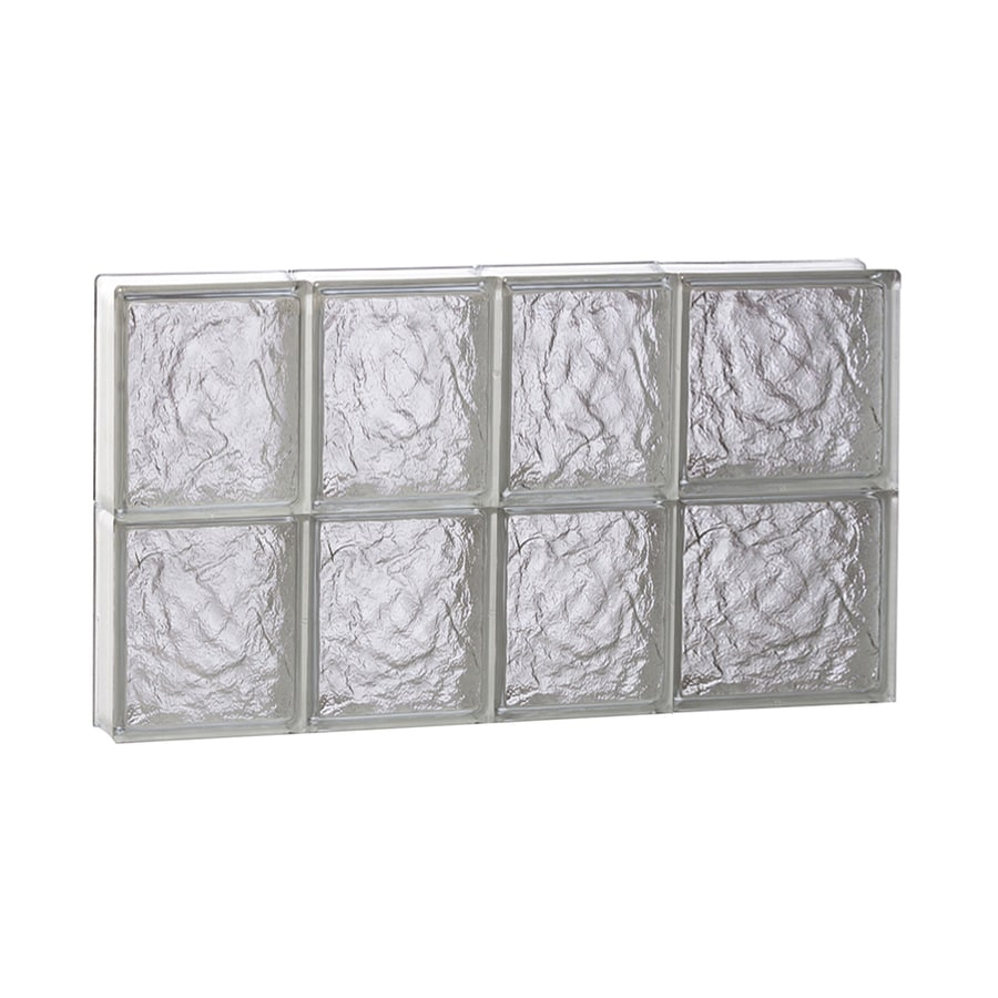 REDI2SET Ice Glass Pattern Frameless Replacement Block Window (Rough Opening: 26-in x 16-in; Actual: 25-in x 15.5-in)
