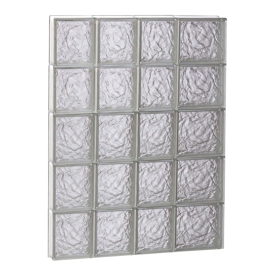 REDI2SET Ice Glass Pattern Frameless Replacement Block Window (Rough Opening: 26-in x 40-in; Actual: 25-in x 38.75-in)