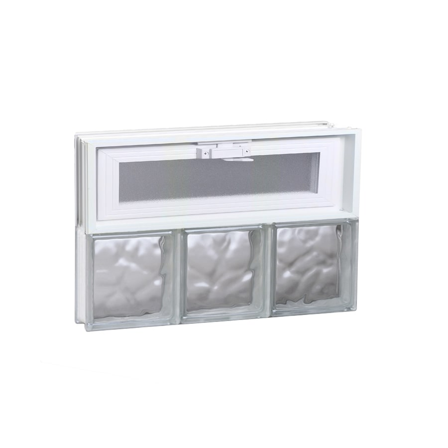REDI2SET Wavy Glass Pattern Frameless Replacement Glass Block Window (Rough Opening: 18-in x 12-in; Actual: 17.25-in x 11.5-in)