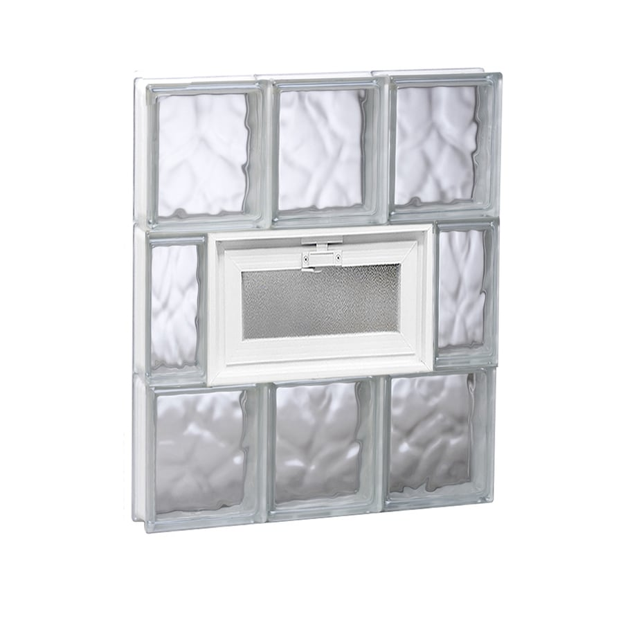 REDI2SET Wavy Glass Pattern Frameless Replacement Glass Block Window (Rough Opening: 18-in x 24-in; Actual: 17.25-in x 23.25-in)
