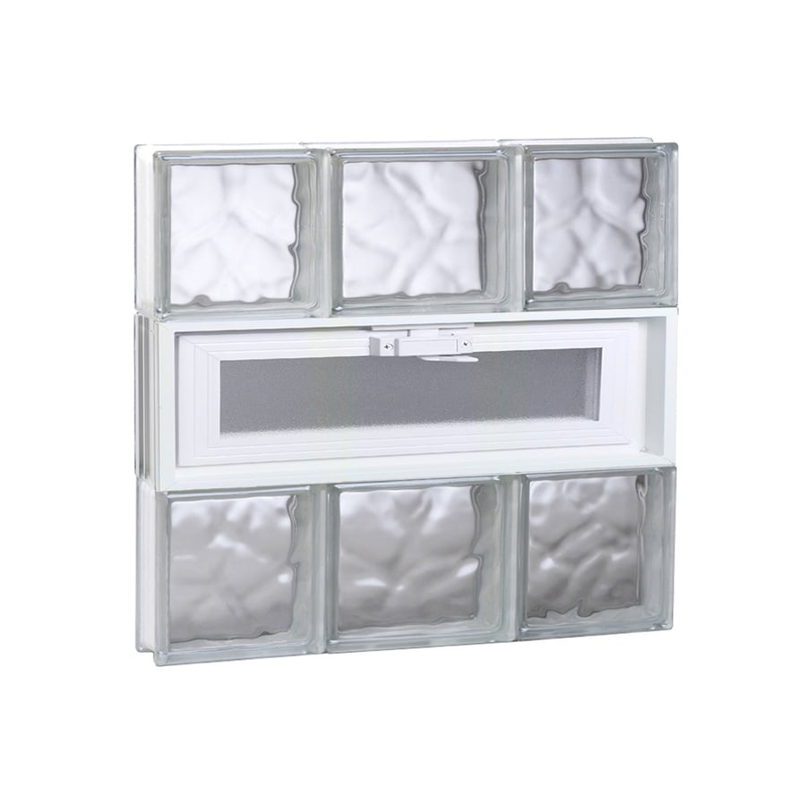 REDI2SET Wavy Glass Pattern Frameless Replacement Glass Block Window (Rough Opening: 20-in x 18-in; Actual: 19.25-in x 17.25-in)
