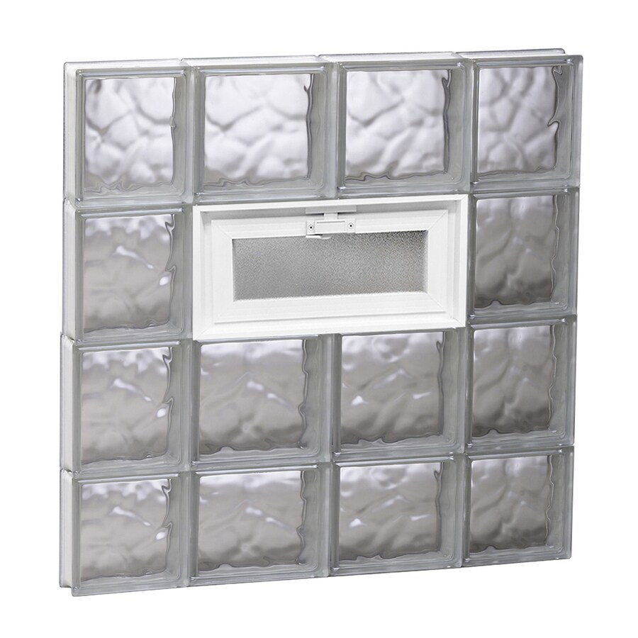 REDI2SET Wavy Glass Pattern Frameless Replacement Glass Block Window (Rough Opening: 28-in x 30-in; Actual: 27-in x 29-in)
