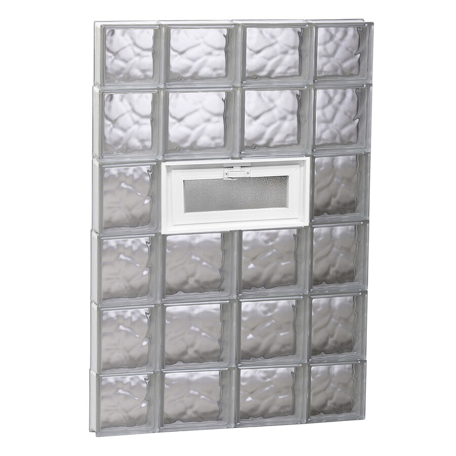 REDI2SET Wavy Glass Pattern Frameless Replacement Glass Block Window (Rough Opening: 28-in x 44-in; Actual: 27-in x 42.5-in)