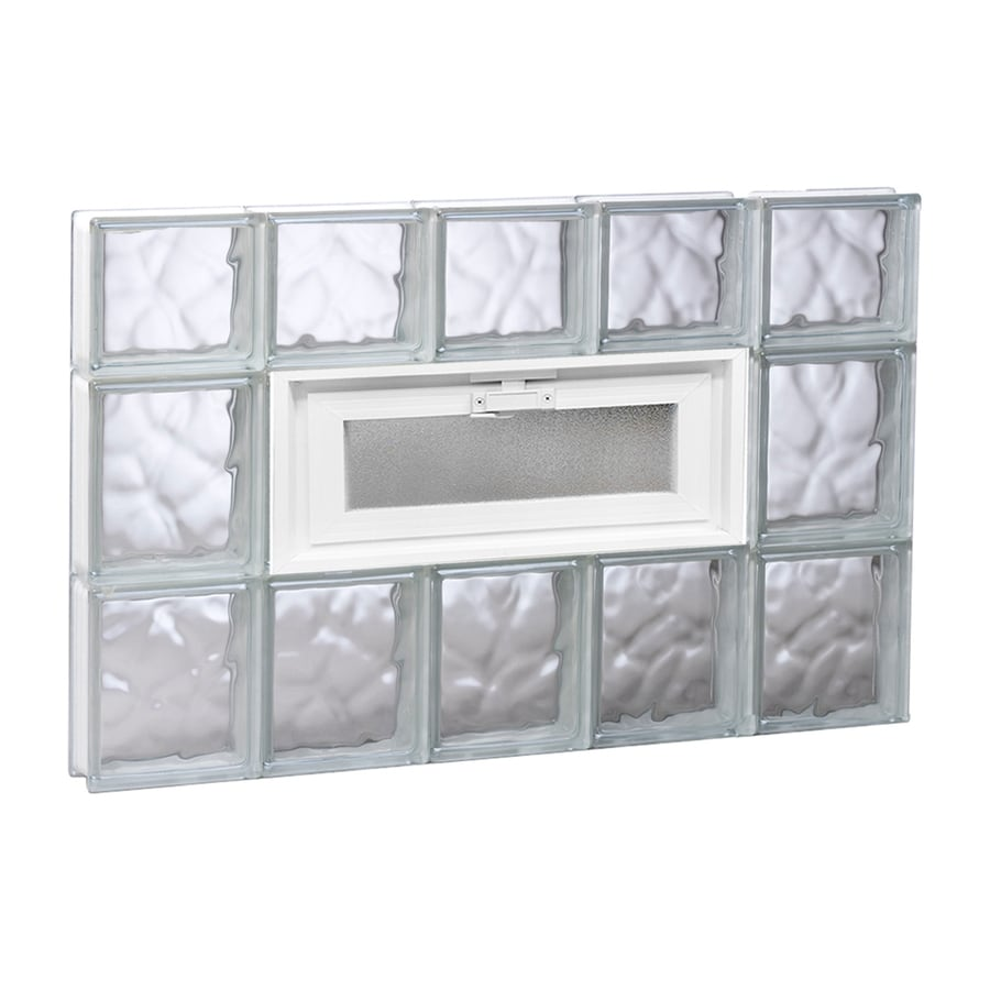 REDI2SET Wavy Glass Pattern Frameless Replacement Glass Block Window (Rough Opening: 30-in x 22-in; Actual: 28.75-in x 21.25-in)