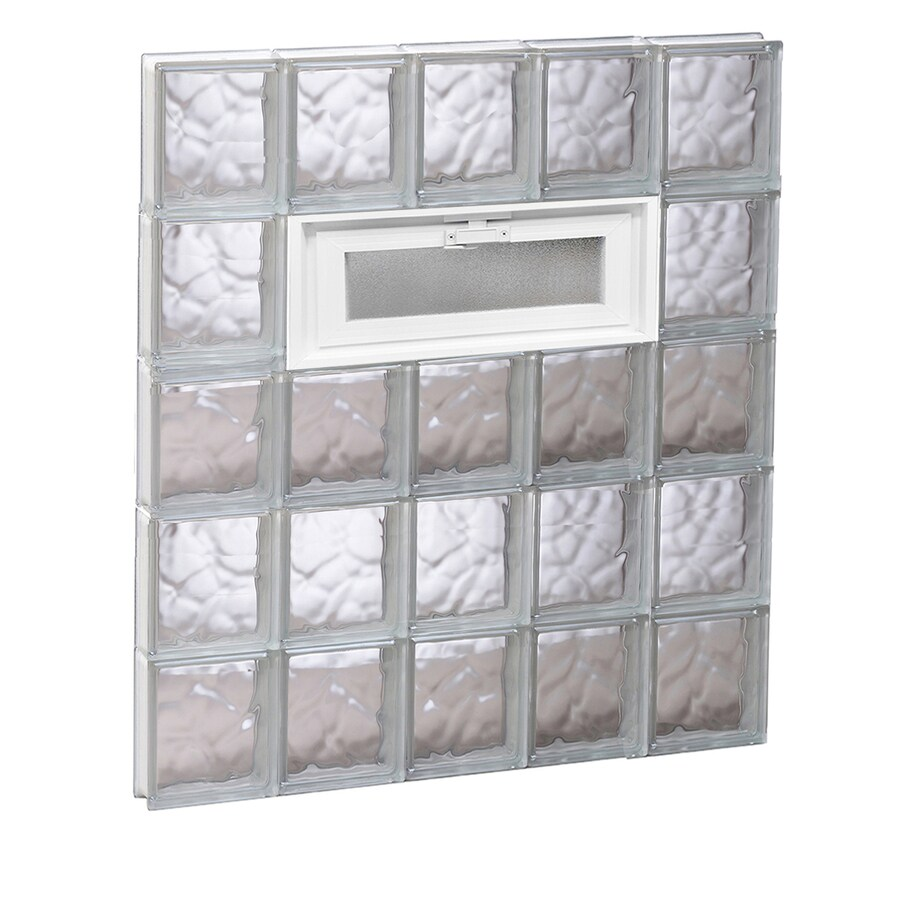 REDI2SET Wavy Glass Pattern Frameless Replacement Glass Block Window (Rough Opening: 30-in x 40-in; Actual: 28.75-in x 38.75-in)