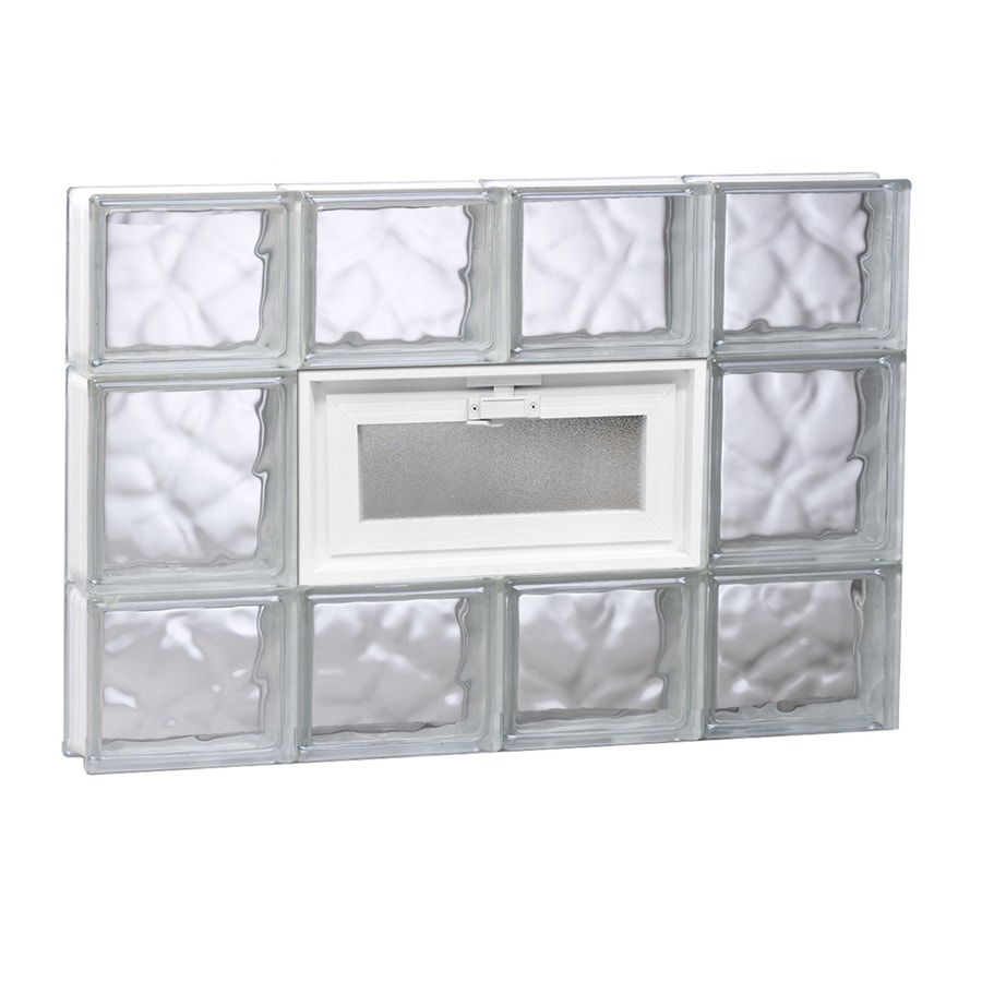 REDI2SET Wavy Glass Pattern Frameless Replacement Glass Block Window (Rough Opening: 31.5-in x 19.75-in; Actual: 31-in x 19.25-in)