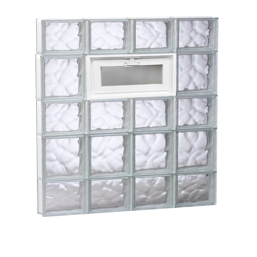 REDI2SET Wavy Glass Pattern Frameless Replacement Glass Block Window (Rough Opening: 32-in x 34-in; Actual: 31-in x 32.75-in)