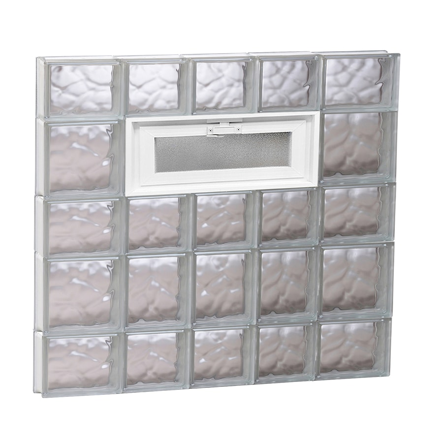 REDI2SET Wavy Pattern Frameless Replacement Glass Block Window (Rough Opening: 34-in x 34-in; Actual: 32.75-in x 32.75-in)