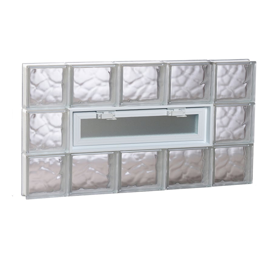 REDI2SET Wavy Pattern Frameless Replacement Glass Block Window (Rough Opening: 36-in x 18-in; Actual: 34.75-in x 17.25-in)