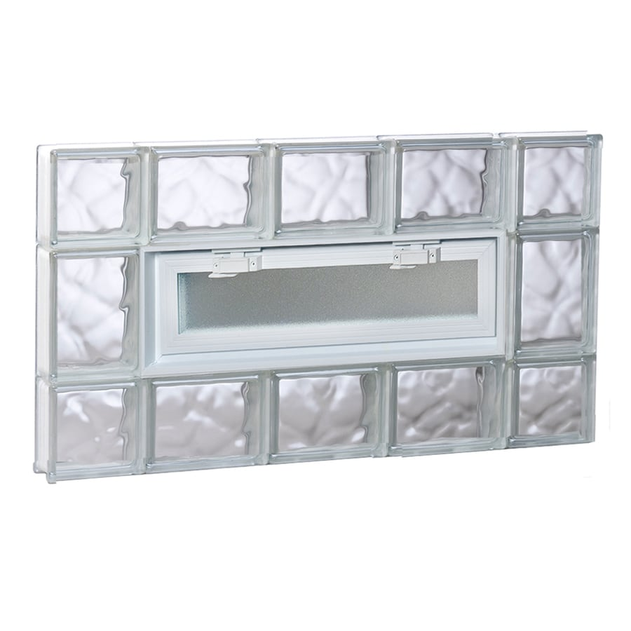 REDI2SET Wavy Pattern Frameless Replacement Glass Block Window (Rough Opening: 36-in x 20-in; Actual: 34.75-in x 19.25-in)