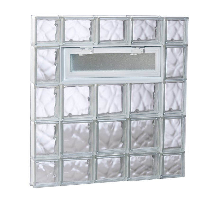 REDI2SET Wavy Pattern Frameless Replacement Glass Block Window (Rough Opening: 36-in x 36-in; Actual: 34.75-in x 34.75-in)