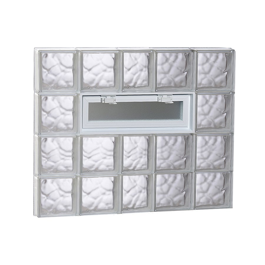 REDI2SET Wavy Pattern Frameless Replacement Glass Block Window (Rough Opening: 38-in x 32-in; Actual: 36.75-in x 31-in)