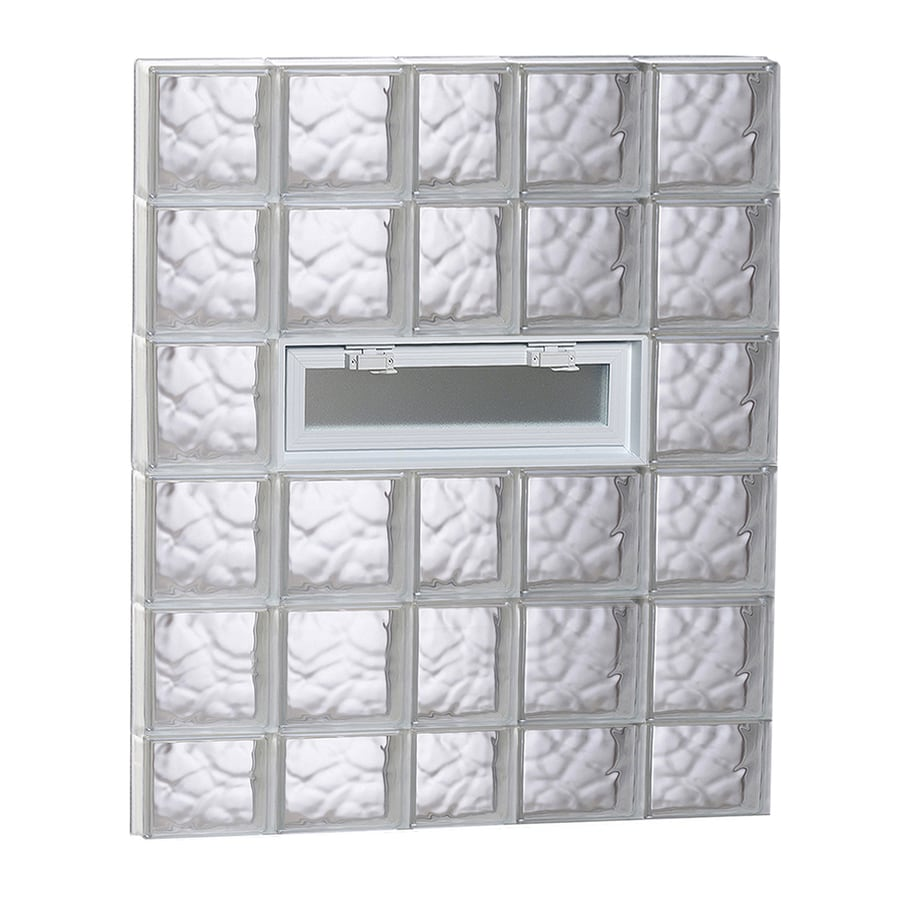 REDI2SET Wavy Pattern Frameless Replacement Glass Block Window (Rough Opening: 38-in x 46-in; Actual: 36.75-in x 44.5-in)