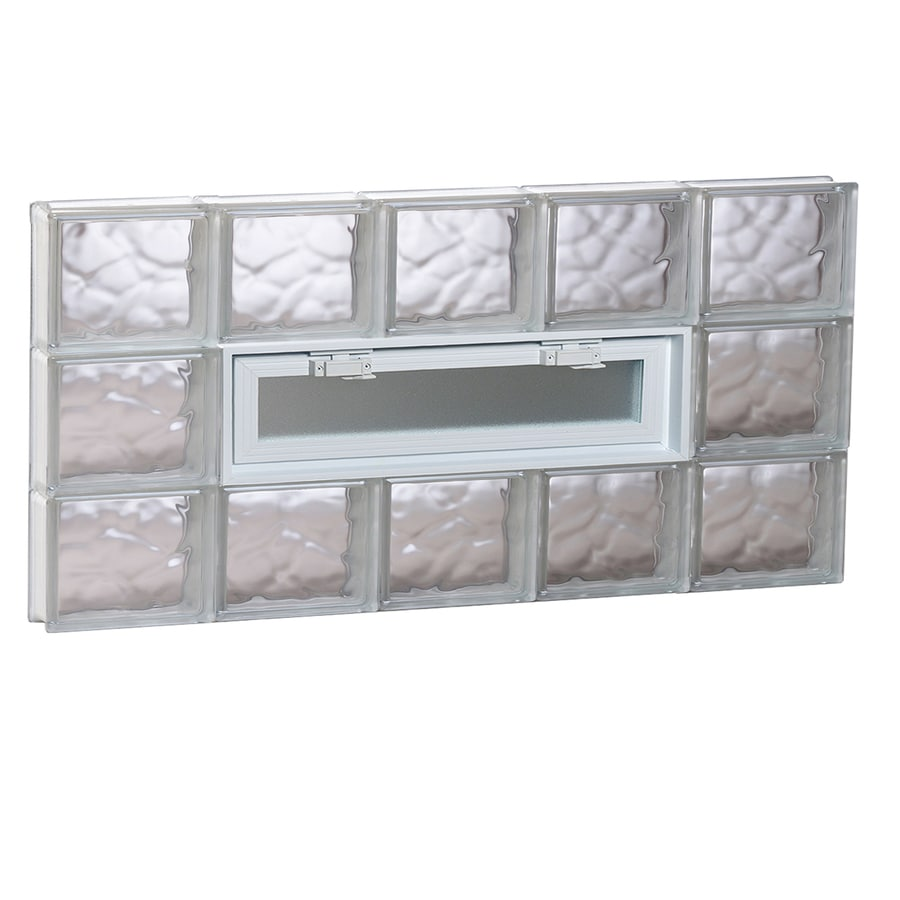 REDI2SET Wavy Pattern Frameless Replacement Glass Block Window (Rough Opening: 40-in x 18-in; Actual: 38.75-in x 17.25-in)