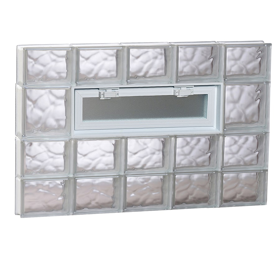 REDI2SET Wavy Pattern Frameless Replacement Glass Block Window (Rough Opening: 40-in x 26-in; Actual: 38.75-in x 25-in)